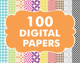 Digital Papers Pack 100 Basic Papers Set 3