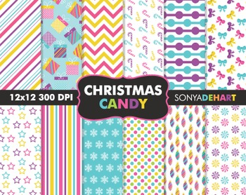Digital Papers - Christmas Candy