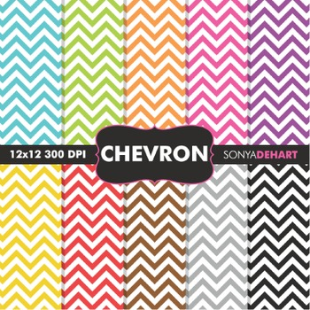 Digital Papers - Chunky Chevron