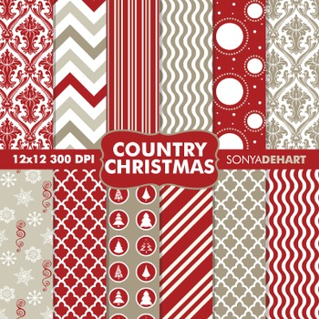 Digital Papers - Country Christmas