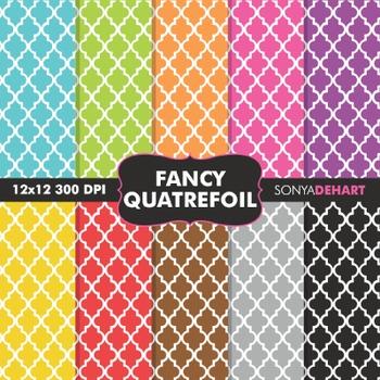 Digital Papers - Fancy Quatrefoil