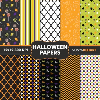 Digital Papers - Halloween