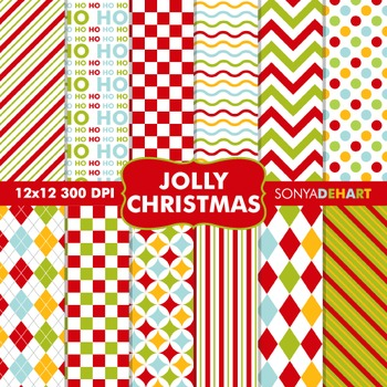 Digital Papers - Jolly Christmas