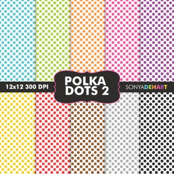 Digital Papers - Polka Dots 2