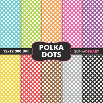 Digital Papers - Polka Dots
