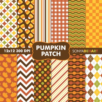 Digital Papers - Pumpkin Patch