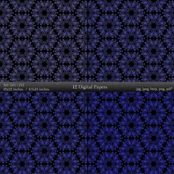 Digital Paper Pattern Set Card Embellishment Supplie Retro Collag Decorative A4