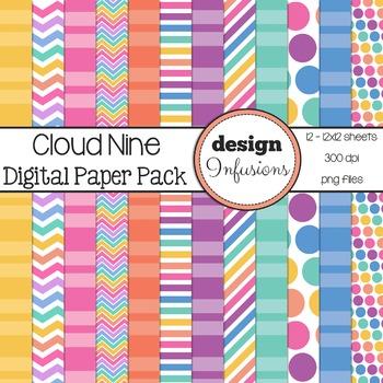 Digital Paper / Patterns: Cloud 9