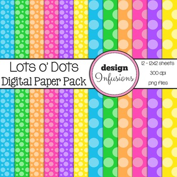 Digital Paper / Patterns: Lots o' Dots