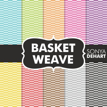 Digital Papers - Basket Weave