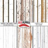 Digital Paper / Patterns - Shabby Chic White Fence