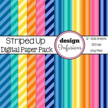 Digital Paper / Patterns: Striped Up