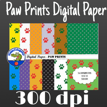 Paw Prints Digital Paper