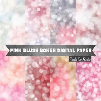 Digital Paper - Pink Bokeh
