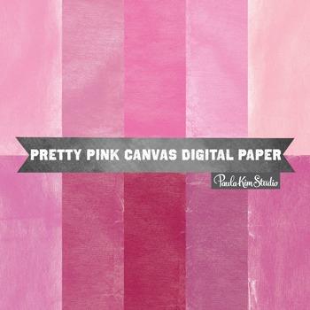 Digital Paper - Pink Burlap