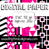 Digital Paper - Pink and Black