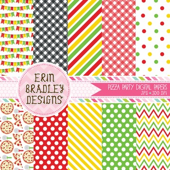 Digital Paper - Pizza Party Pack