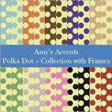 Digital Paper - Polka Dots and Frames Background Pack