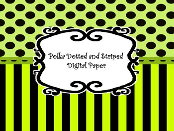 Digital Paper: Polka Dotted Stripes