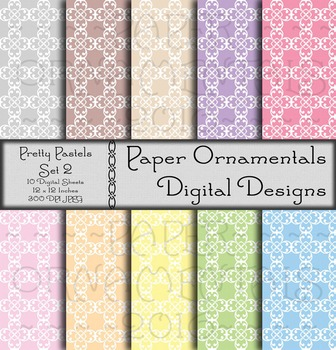 Digital Paper:  Pretty Pastels 2