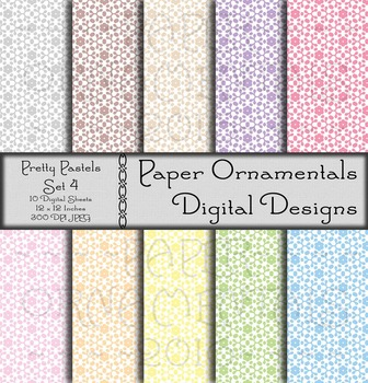 Digital Paper:  Pretty Pastels 4