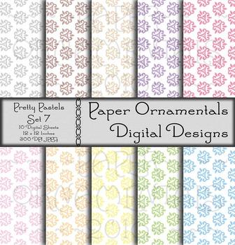 Digital Paper:  Pretty Pastels 7