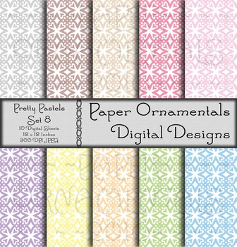 Digital Paper:  Pretty Pastels 8