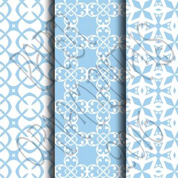 Digital Paper: Pretty Pastels Blue Set 1