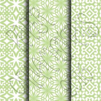 Digital Paper: Pretty Pastels Green Set 1