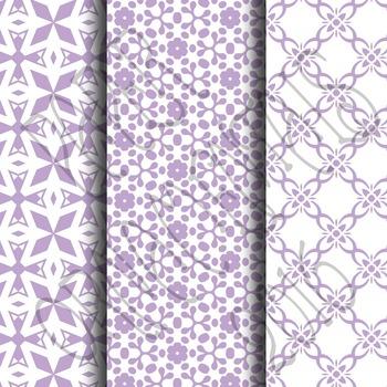 Digital Paper: Pretty Pastels Purple Set 1