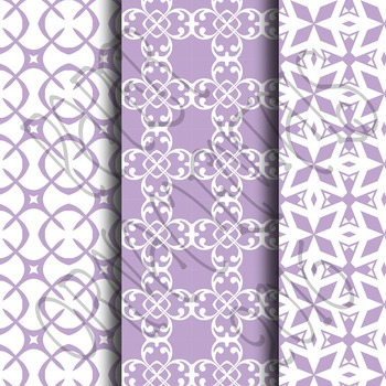 Digital Paper: Pretty Pastels Purple Set 1
