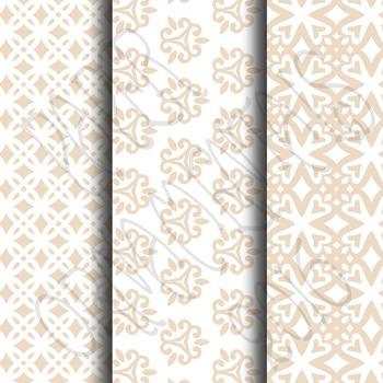 Digital Paper: Pretty Pastels Tan Set 1