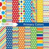 Digital Paper - Primary Colors / Back to School