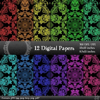image relating to Printable Decorative Paper known as Electronic Paper Printable Ornamental Card Sbook Piecing Graphics Design Ornate