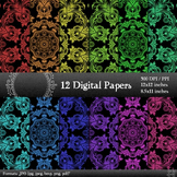 Digital Paper Printable Decorative Card Scrapbook Piecing