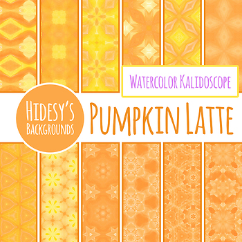 Digital Paper - Pumpkin Latte Pattern / Background Clip Art for Commercial Use