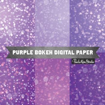 Digital Paper - Purple Bokeh