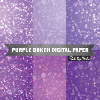 Digital Paper - Purple Bokeh
