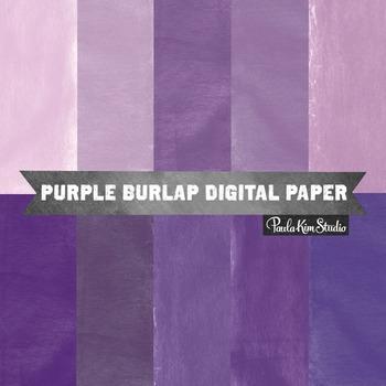 Digital Paper - Purple Burlap