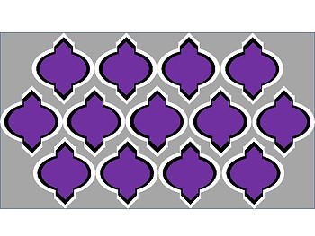 Digital Paper - Purple & Gray Moroccan