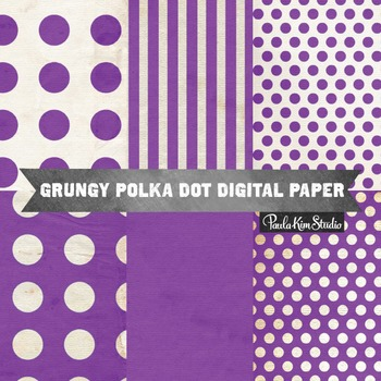 Digital Paper - Purple Grungy Backgrounds