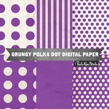 Digital Paper - Purple Grungy Backgrounds