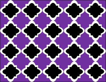 Digital Paper - Purple Moroccan