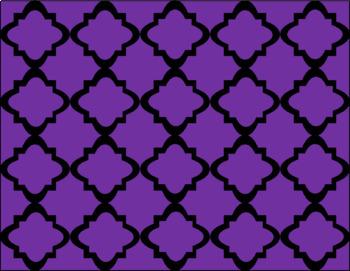 FREE Digital Paper - Purple Moroccan