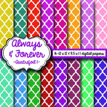 Digital Paper Quatrefoil Pack 1