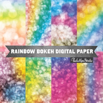 Digital Paper - Rainbow Bokeh