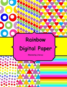 Digital Paper: Rainbow *Freebie*