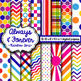 Digital Paper Rainbow Time LARGE Pack!  Includes 32 Papers!