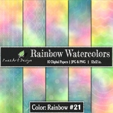 Digital Paper | Rainbow Watercolors #21 {PaezArtDesign}