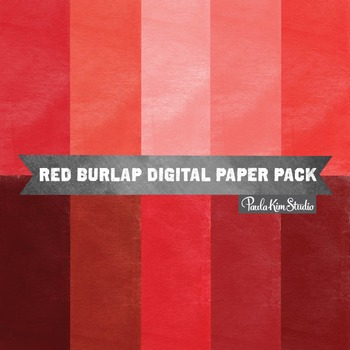 Digital Paper - Red Burlap